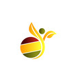 healthy life logo design template vector image vector image