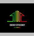 home energy efficiency class sign eco house logo vector image vector image