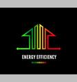 home energy efficiency class sign eco house logo vector image