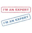 i m an expert textile stamps vector image vector image