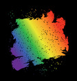 iridescent brush stroke lgbt flag grunge style vector image vector image