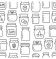 jam seamless pattern with thin line icons vector image vector image