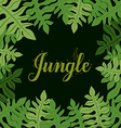 Jungle design vector image