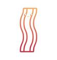 kawaii bacon stripe icon vector image vector image