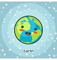 Kawaii space card Doodle with pretty facial vector image vector image