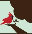 Little bird on the tree vector image vector image