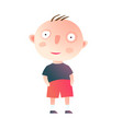 little kid boy standing vector image vector image
