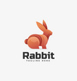 logo rabbit gradient colorful style vector image