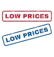Low Prices Rubber Stamps vector image vector image