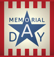 memorial day grunge retro background vector image