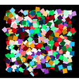 mess of the color deformed squares vector image vector image