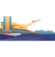 modern airport banner vector image vector image