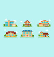 modern cottage house set real estate concept vector image vector image