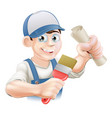 painter decorator training vector image vector image
