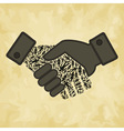 Person hand shake vector image vector image