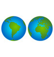 planet earth icon flat planet earth icon vector image