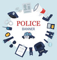 police professional tools and security equipment vector image vector image