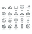 rail transport icons vector image