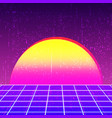 retro background 80s design vector image