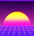 retro background 80s design vector image vector image