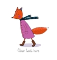 Sad cartoon fox vector image