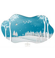 santa clause coming to town on blue background vector image vector image
