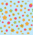 seamless abstract floral color spring pattern on vector image vector image