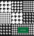 seamless black and white houndstooth background vector image vector image