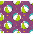 seamless pattern with colorful balls vector image vector image