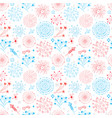 seamless pattern with doodle fireworks in american vector image