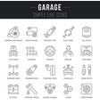set line icons garage vector image