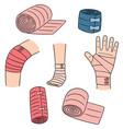 set of medical bandage vector image vector image