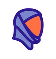 space helmet outline icon vector image vector image