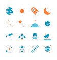 space in flat icon set design vector image vector image