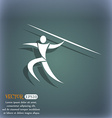 Summer sports Javelin throw icon On the blue-green vector image vector image