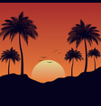 sunset summer landscape background vector image vector image