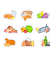 supermarket food sets vector image vector image