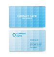 template business card for environmental vector image