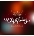 Template Merry Christmas card Holiday lettering vector image