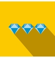 Three diamonds flat icon vector image vector image