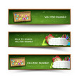 three green school banner set vector image vector image
