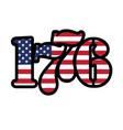 usa flag 1776 year vector image