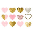 valentine day set hearts vector image
