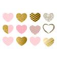 valentine day set hearts vector image
