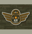 vintage air forces colorful insignia vector image vector image