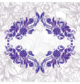 Vintage purple decorative floral frame vector image vector image