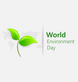 world environment day concept banner for world vector image vector image