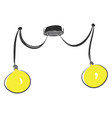 yellow chandelery on white background vector image