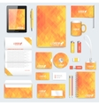 Yellow set of corporate identity template vector image vector image
