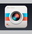 camera icon lens vector image